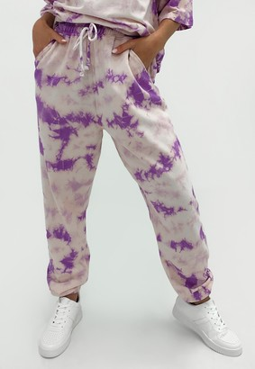 Missguided Lilac Co Ord Savage Tie Dye Joggers