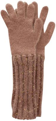 Max Mara Beige Wool Gloves