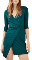 Topshop Women's Ponte Faux Wrap Minidress