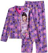 Disney Disney's Descendants Mal Girls 4-12 Dot Button-Front Pajama Set