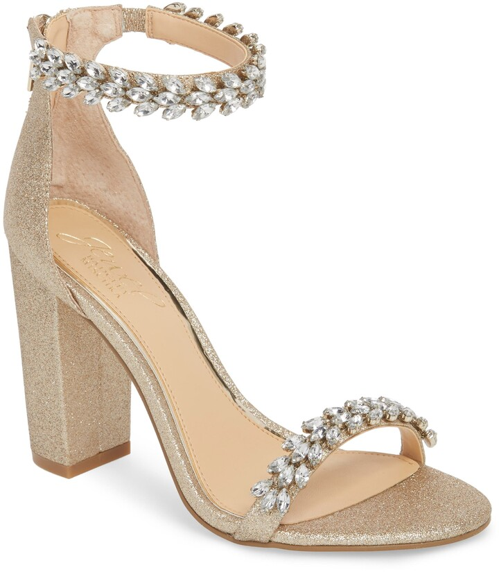 Badgley Mischka Jewel by Mayra Embellished Ankle Strap Sandal
