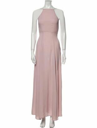 Reformation Square Neckline Long Dress Pink