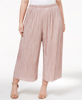 ING Trendy Plus Size Pleated Gaucho Pants
