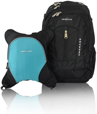 Obersee Baby Boys' O3BBPCA030 Bern Diaper Backpack Shoulder Bag With Food Cooler Clip to Stroller Turquoise