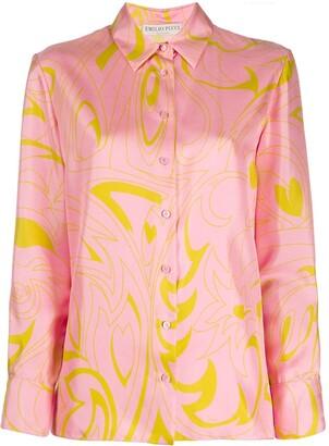 Emilio Pucci Dinamica print silk shirt