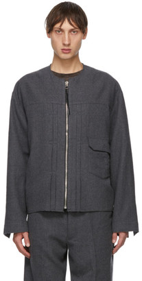 Tanaka Grey Wool Unfinished Jacket