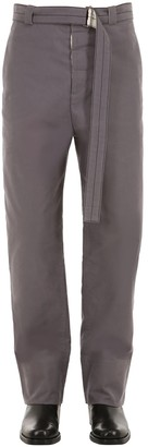 Rochas Cotton Pants W/ Belt