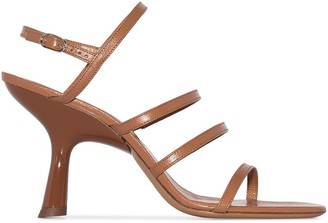 Simon Miller Sculptural Strappy 90mm Sandals