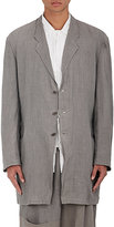 Yohji Yamamoto Men's Linen Three-Button Soft Sportcoat-GREY