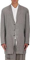 Yohji Yamamoto Men's Linen Three-Button Soft Sportcoat