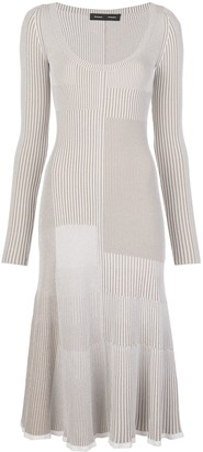 Proenza Schouler Patchwork Knitted Dress