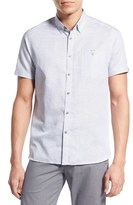 Ted Baker 'Mysong' Modern Slim Fit Stripe Short Sleeve Sport Shirt