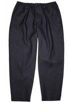 Marni Navy Cropped Wool Trousers