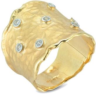 I. Reiss 14K 0.14 Ct. Tw. Diamond Cuff Ring