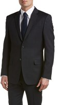 Versace Wool Suit With Flat Front Pant.