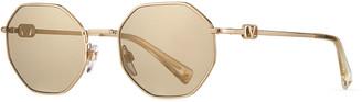 Valentino VLOGO Octagon Metal Sunglasses