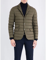 Ralph Lauren Purple Label Suede-detail Down-filled Quilted Shell Jacket