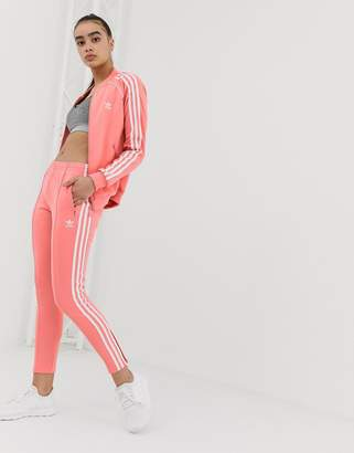 adidas track joggers in pink
