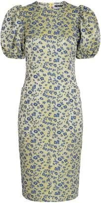 Rotate by Birger Christensen Katarina Floral Puff-Sleeve Dress