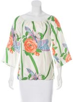 Alice + Olivia Silk Floral Blouse