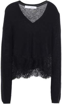 IRO Lace-trimmed Knitted Sweater