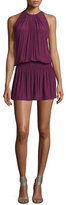 Ramy Brook Paris Sleeveless Blouson Dress, Sangria