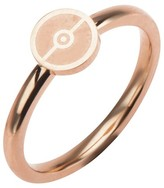 Pokemon Women's Poké Ball Stainless Steel Rose Gold IP Ring
