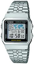 Casio A500wea-1ef Digital Stainless Steel Bracelet Strap Watch, Silver