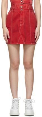 Sjyp Red Denim Miniskirt