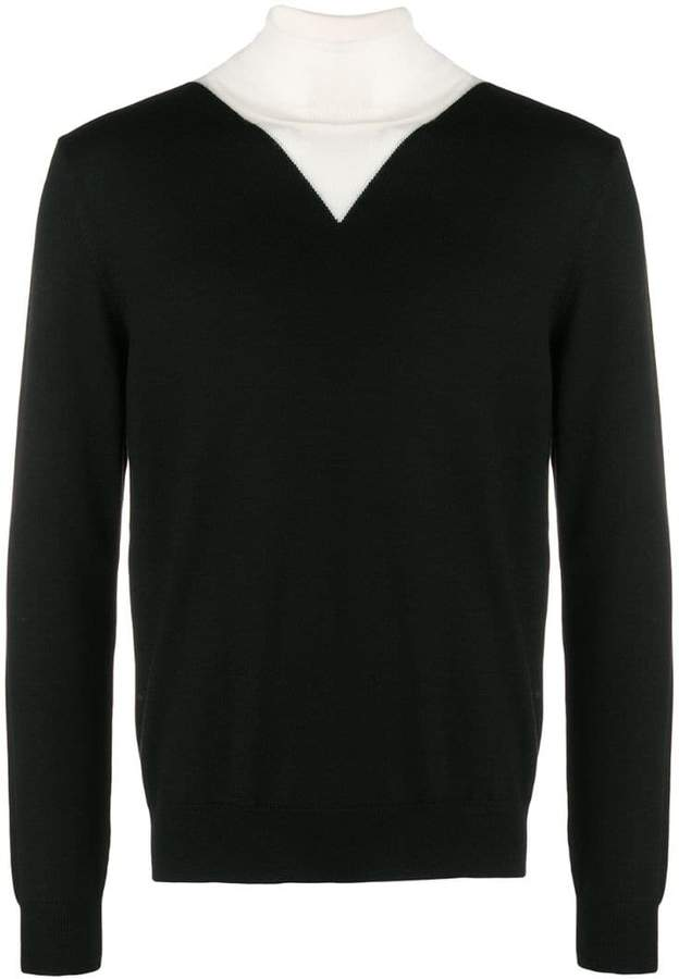 Kenzo colourblock roll neck sweater