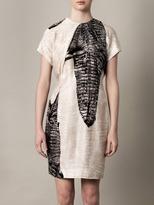 Acne Sweety crocodile-print dress