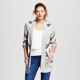 Women's Patterned Cardigan Gray Pattern - Mossimo Supply Co.