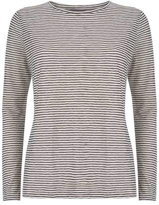 Mint Velvet Ivory Striped Burnout T-Shirt