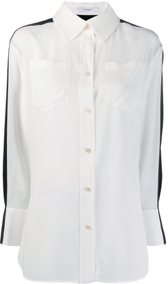 Givenchy Two-Tone Silk Shirt