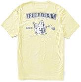 True Religion Short-Sleeve Crew Neck Double Puff Buddha Graphic Tee