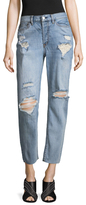 Free People Distressed Mid-Rise Jean