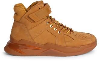 Balmain B-Ball High-Top Leather Sneakers