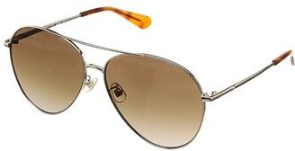 Kate Spade Carolane/F/S (Light Gold) Fashion Sunglasses