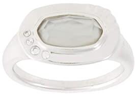 Kendra Scott Anna Band Ring (Rhodium Gray Illusion) Ring