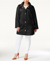 Jones New York Plus Size Turnlock Coat