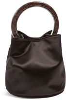 Marni Pannier small circle-handle satin bag
