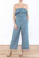 Lucca Couture Denim Wash Jumpsuit