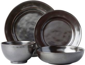 Juliska 4-Piece Pewter Stoneware Dinnerware Place Setting
