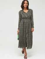 Very Shirred Waist Textured Mini Dress - Black