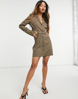 Steele Valerie popper dress in tan