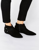 Asos APPLE Harness Detail Pointed Boots