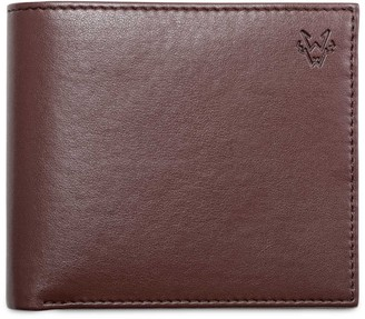 Watson & Wolfe Classic Eco Leather Wallet In Chestnut Brown
