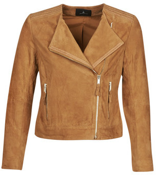One Step DIYA women's Leather jacket in Brown