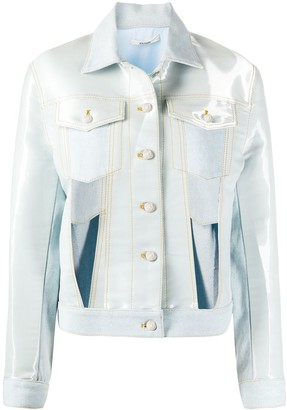 Zilver Cut Out Denim Jacket
