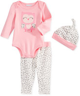 First Impressions Baby Boys' 3-Pc. Hat, Owl Bodysuit & Leggings Set, Only at Macy's
